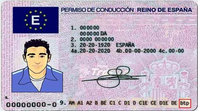 permiso de conducción carnet de conducir DGT Translation-Traducción