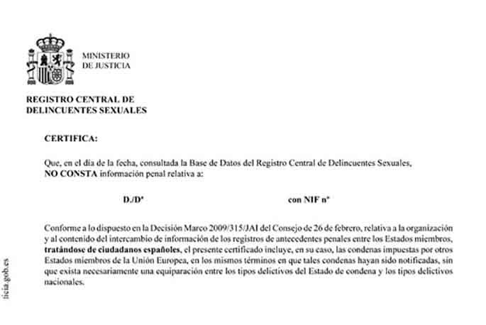 traductor jurado traducción jurada certificado de delitos de naturaleza sexual Translation-Traducción